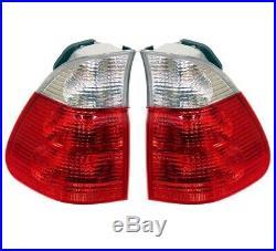 Set Left & Right Outer Fender Genuine Tail Lights White Turn Signal For BMW E53
