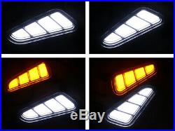 Side LED Turn Signal Garnish Fender Molding Vent (Fits HYUNDAI 2017+ Kona)