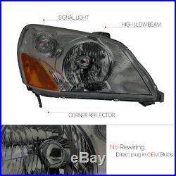 Smoke Tinted Headlight Lamp Amber Turn Signal Reflector for 03-05 Honda Pilot
