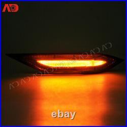 Smoked LED Side Fender Marker Lights withTurn Signal For 2011-2014 Porsche Cayenne