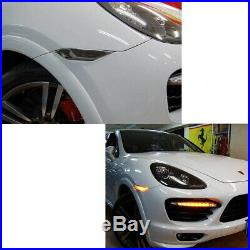 Smoked Lens Amber LED Front Sidemarker Lights For 11-14 Pre-LCI Porsche Cayenne