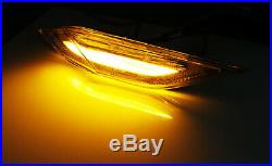 Smoked Lens Amber/White Switchback LED Side Markers For 11-14 Porsche Cayenne
