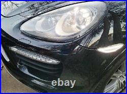 Smoked Lens White LED Front Sidemarker Lights For 11-14 Pre-LCI Porsche Cayenne