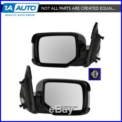 TRQ Power Heated Turn Signal Memory Mirror LH & RH Pair Set of 2 for 09-13 Pilot