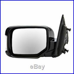 TRQ Power Memory Turn Signal Smooth Black Mirror Pair of 2 for 09-13 Honda Pilot