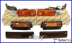 Toyota AE86 Trueno Kouki Front Bumper Turn Lamp Smoke Fender Light & Garnish JDM