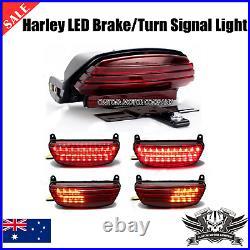 Tri Bar Fender LED Tail Turn signal Light Harley Softail FXSTB 2006-2016 cvo FXS