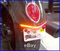 Triumph Rocket III Roadster LED Fender Turn Signal Kit with Plate Bracket Clear