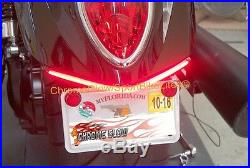 Triumph Rocket III Roadster Red LED Fender Turn Signal Kit with Plate Bracket S