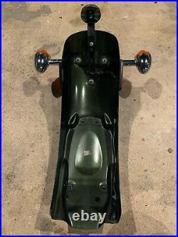 Triumph Thruxton OEM Rear Fender Mudguard, Tail Light & Turn Signals Green