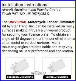 UNIVERSAL Motorcycle Fender Eliminator Sportbikes License Back Plate Turn Signal