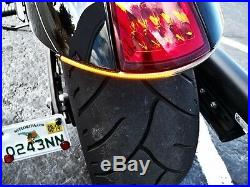 VICTORY HAMMER UNDER FENDER LED TURN SIGNAL BAR KIT with Tag Mount Clear Lens