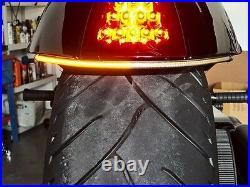 VICTORY HAMMER UNDER FENDER RED LED TURN SIGNAL BAR KIT Clear Lens