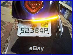 Victory Jackpot Red LED Fender Turn Signals with Tag Light & Bracket Smoked Lens