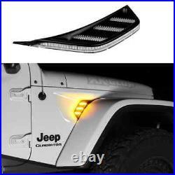 Xkglow Amber Jeep Jl&jt Fender Vent Turn Signal & Running Light
