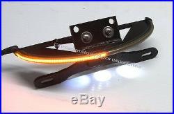 Yamaha Bolt Red LED Fender Eliminator Turn Signal Light Bar & Tag Mount Smoke