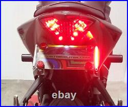 Yamaha YZF-R3 Fender Eliminator with LED Turn Signal Light Bars Smoked Lens