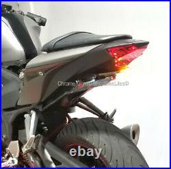 Yamaha YZF-R3 Tucked Fender Eliminator with LED Turn Signal Light Bar Clear Lens