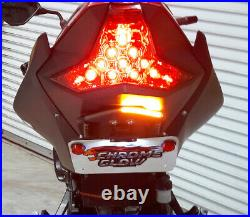 Z400 & Ninja 400 Tucked Fender Eliminator with LED Turn Signal Light Bar, Smoke