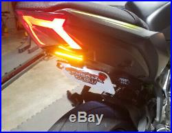 Z650 & Ninja 650 2017+ Fender Eliminator Kit with LED Turn Signal Light Bar, Smoke