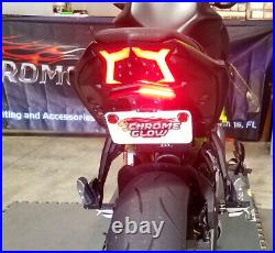 Z650 & Ninja 650 2017+ Fender Eliminator Kit with Red LED Turn Signal Light Bar, R